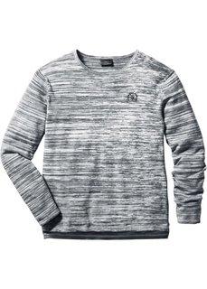 Пуловер Regular Fit (бирюзовый/кремовый меланж) Bonprix