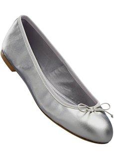 Кожаные балетки (серо-коричневый) Bonprix