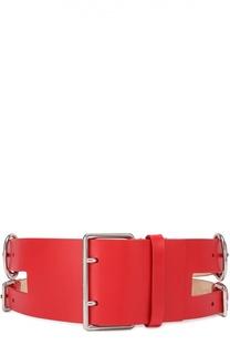 Двойной кожаный ремень Alexander McQueen