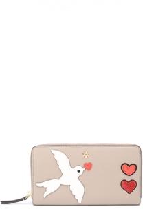 Кошелек Peace с аппликацией Tory Burch