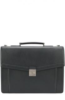 Кожаный портфель с плечевым ремнем Kiton