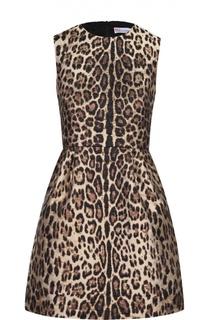 Приталенное мини-платье с леопардовым принтом REDVALENTINO