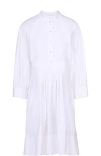 Приталенное платье-рубашка с укороченным рукавом Chloé