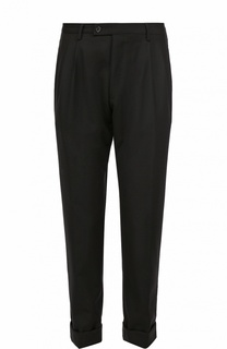 Шерстяные брюки прямого кроя с заниженной линией шага Baldessarini