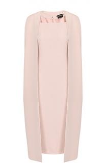 Платье-футляр без рукавов с кейпом Tom Ford