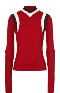Облегающий пуловер с контрастной отделкой Marni