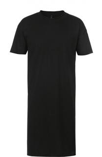 Удлиненная хлопковая футболка с круглым вырезом Barbara I Gongini