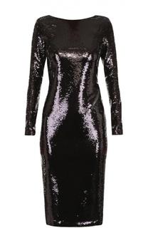 Платье-футляр с пайетками и открытой спиной Tom Ford