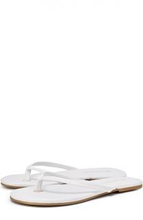 Кожаные пляжные шлепанцы Melissa Odabash