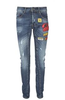Зауженные джинсы с нашивками Frankie Morello