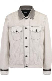 Джинсовая куртка с контрастной отделкой Diesel