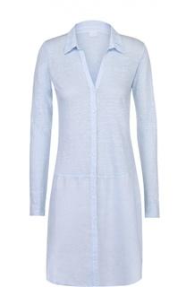 Льняное платье-рубашка свободного кроя 120% Lino