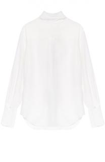 Шелковая блуза прямого кроя с воротником аскот Chloé