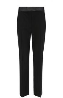 Укороченные расклешенные брюки со стрелками и контрастным поясом Escada Sport