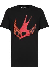 Хлопковая футболка с контрастной нашивкой MCQ