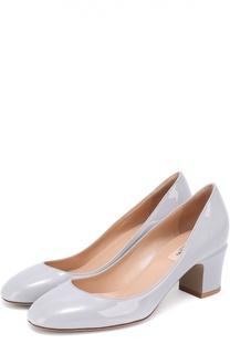 Лаковые туфли Tan-Go на устойчивом каблуке Valentino