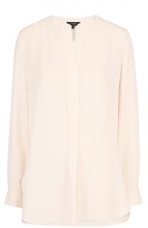 Удлиненная шелковая блуза прямого кроя Theory
