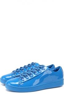 Лаковые кеды на шнуровке DKNY