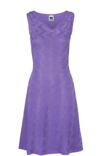 Приталенное платье фактурной вязки без рукавов M Missoni