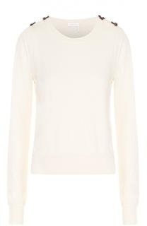 Пуловер прямого кроя с контрастной фактурной отделкой See by Chloé