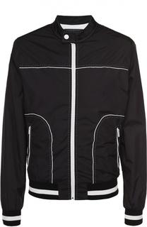 Куртка на молнии с контрастными манжетами и прострочкой Dolce & Gabbana