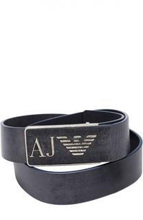 Кожаный ремень с металлической пряжкой Armani Jeans