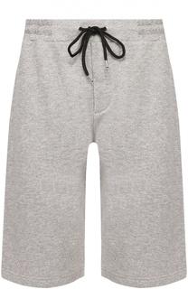 Хлопковые шорты с контрастной вышивкой MCQ