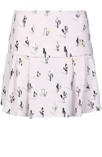 Мини-юбка с контрастным принтом Kenzo