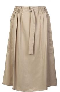 Юбка миди с эластичным поясом и карманами Kenzo