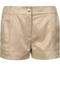 Мини-шорты с карманами и декоративной кнопкой Kenzo