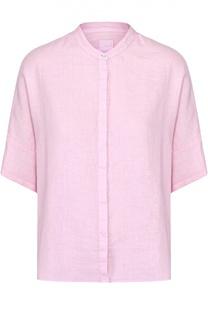 Льняная блуза свободного кроя с коротким рукавом 120% Lino