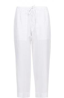 Укороченные брюки прямого кроя с эластичным поясом 120% Lino