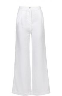 Льняные расклешенные брюки с карманами 120% Lino