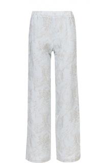 Льняные брюки в пижамном стиле с принтом 120% Lino