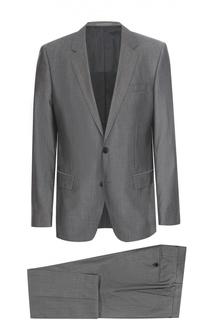 Шерстяной костюм с пиджаком на двух пуговицах BOSS