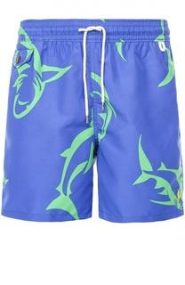 Плавки-шорты с принтом и карманами Polo Ralph Lauren