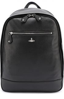Кожаный рюкзак с внешним карманом на молнии Vivienne Westwood