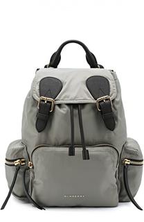 Рюкзак среднего размера с кожаной отделкой Burberry