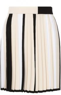Плиссированная мини-юбка в контрастную полоску MRZ