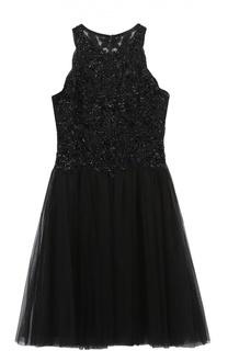 Приталенное мини-платье без рукавов с вышивкой Basix Black Label