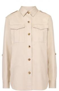 Блуза прямого кроя с накладными карманами и погонами Isabel Marant Etoile