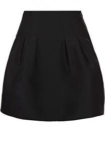 Шелковая мини-юбка с защипами Polo Ralph Lauren
