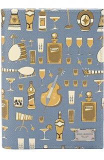 Кожаная обложка для паспорта с отделениями для кредитных карт Dolce & Gabbana