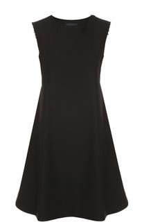 Платье свободного кроя без рукавов с круглым вырезом Yohji Yamamoto