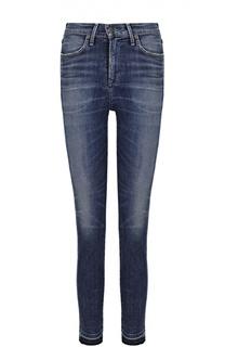 Укороченные джинсы-скинни с потертостями и бахромой Citizens Of Humanity