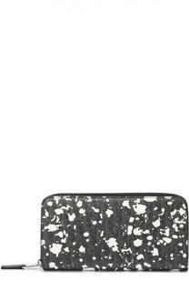Текстильное портмоне на молнии с отделениями для кредитных карт и монет Dior