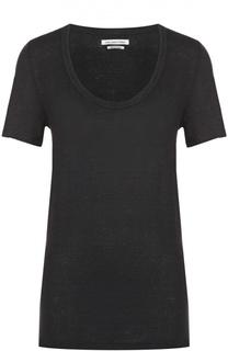 Удлиненная льняная футболка с круглым вырезом Isabel Marant Etoile