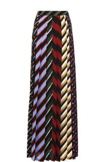 Шелковая юбка-макси в контрастную полоску Mary Katrantzou