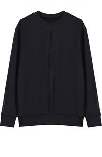 Пуловер прямого кроя с перфорацией Ultracor