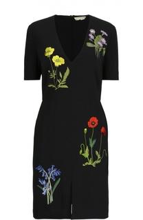 Приталенное платье с цветочной вышивкой Stella McCartney